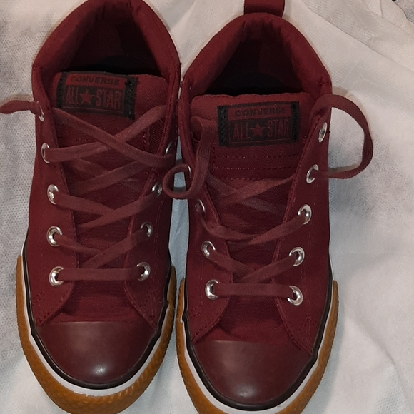 Converse Shoes | Boys Burgundy Mid Top